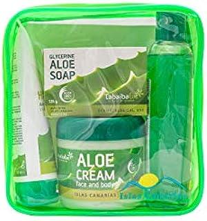 Borsa da viaggio Set da bagno e cura della persona Cosmetico naturale Aloe Vera Tabaibaloe