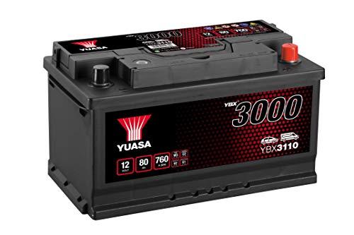 Yuasa YBX3110 Batería de coche SMF Starter recargable 12V 80Ah 720A