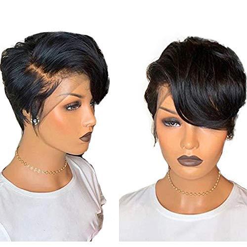 LEZDPP Wig Human Hair Short Cut Wig Short Lace Front Wig 13x4 Lace Front Human Hair Lady Wig 150% Hairpieces