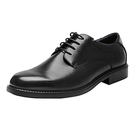 Bruno Marc Men's Downing-02 Black Leather Lined Dress Oxford Shoes Classic Lace Up Formal Size 11 M US