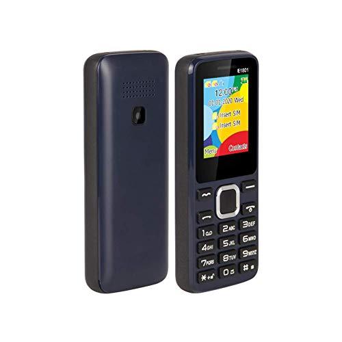 con linterna LED, pantalla a color de 1,77 pulgadas, tarjeta SIM dual, teléfono móvil básico simple, ligero y duradero, reproductor de música para personas mayores, radio FM para personas mayores -