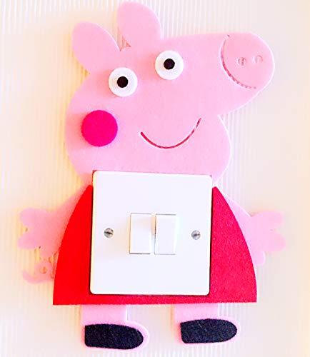 London Golden Swan Super Cute 3D Peppa Pig Light Switch Sticker, Must Have For Peppa Pig Fans! Premium Qualty Thick Felt Material! Kids Children Boys Girls Room Nursery Decor!