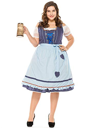NNW Plus-Size Bayern München Oktoberfest Kleidung Nationalkultur Karnevals-Kleidung,M