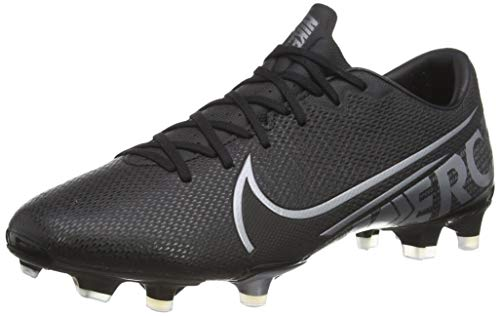 Nike Unisex Vapor 13 Academy Fm/Gm Fußballschuhe, Mehrfarbig Black MTLC Cool Grey Cool Grey 1, 42.5 EU