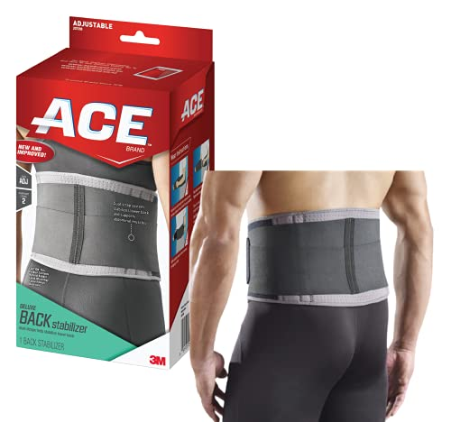 ACE Deluxe Back Stabilizer, with Lumbar Support, Back Brace, Doctor Developed, Adjustable, Helps with Herniated Discs and Sciatica