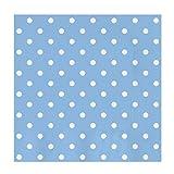 Servilletas de papel decoradas con diseño Lunares color Azul Baby - Ideal para fiestas infantiles, baby shower, comuniones o bautizos - 33 x 33 cm - 30 unidades