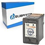 Bubprint Cartucho de Tinta Compatible para HP 56 para DeskJet 5150 5550 5600 5650 5652 OfficeJet 5510 5605Z 5610 5615 PhotoSmart 7760 PSC 1110 1210 1215 1315 1315S 1350 Negro
