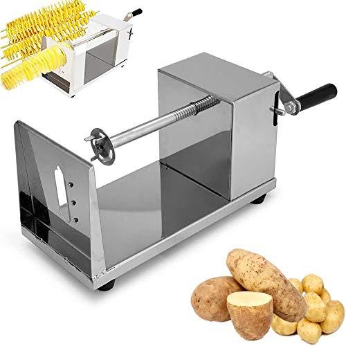 La patata del tornado espiral de la patata cortador inoxidable de la patata del tornado del tornado de la máquina máquina de cortar virutas de acero inoxidable for la cocina de la cocina casera Máquin