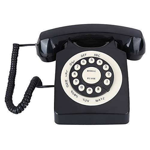 Teléfono Negro Vintage, teléfono Fijo Retro clásico de Es