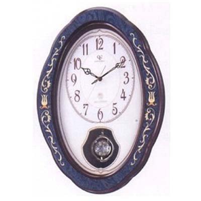 シチズン クィーンエリザベス2  QE2-M90NN 電波掛時計 4MY461QN11 紺象嵌仕上(アイボリー)