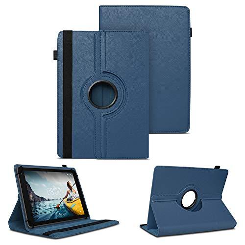 NAUC Tablet Schutzhülle kompatibel für Medion Lifetab P8912 Hülle Tasche Standfunktion 360° Drehbar Cover Universal Hülle, Farben:Blau