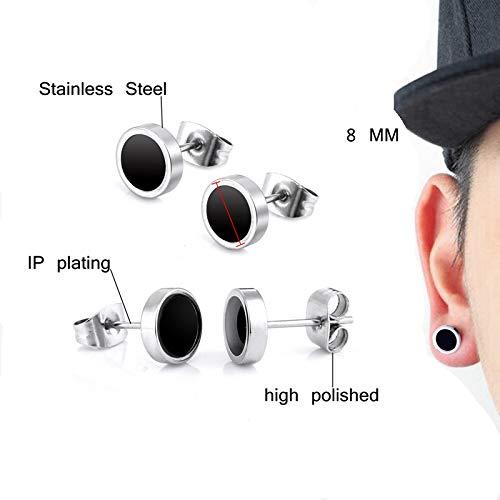 8 Paire Hommes inoxydable Boucles d'oreilles en acier, 8 mm boucles d'oreilles clip en acier inoxydable émail boucles d… 2 Bijoutier Boutique Il est un cadeau parfait pour votre petite amie ou entre amis, idéal pour le mariage, fiançailles, bal, Noël, fêtes d'anniversaire, etc. Il est également très en forme à loisir, ou un usage quotidien. Emballage cadeau de haute qualité, mieux protéger les produits, vous pouvez également les collecter dans un coffret cadeau. Les boucles d'oreilles en acier inoxydable ont une durée de vie allant jusqu'à deux ans, des costumes pour hommes et femmes de tous âges. Peut s'adapter à la plupart des tenues, vous rend plus attrayant, peut également être envoyé à vos amis, parents, petite amie en cadeau