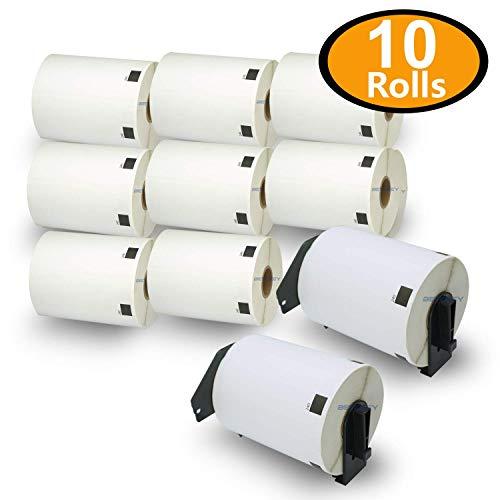 10巻セット ラベル (102mm x 51mm) ブラザー工業 Brother 互換 DK-1240 感熱ラベルプリンタ + 専用互換カセットフレーム(ロール交換可能タイプ)2個 セット