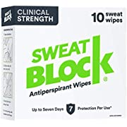 SweatBlock Antiperspirant Wipes