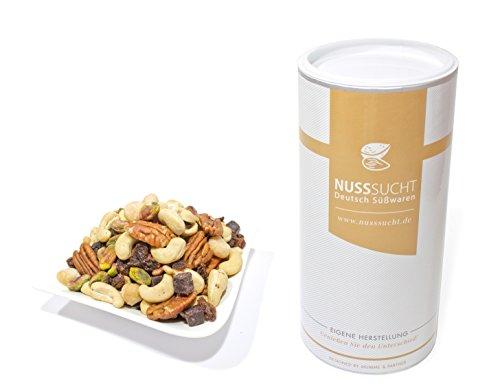 Nussmischung Deluxe geröstet | Inhalt: 500g | Cashewkerne, Macadamia, Pecannüsse, Pistazien,...