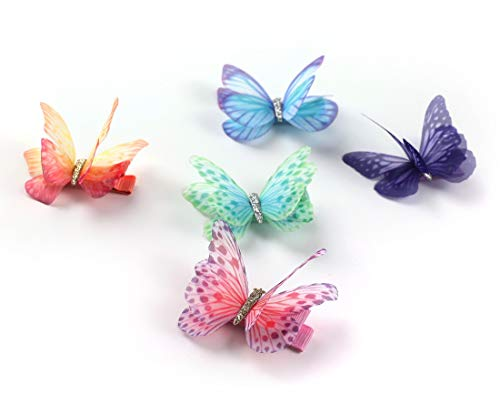 Butterfly hair clips with moving wings _image3