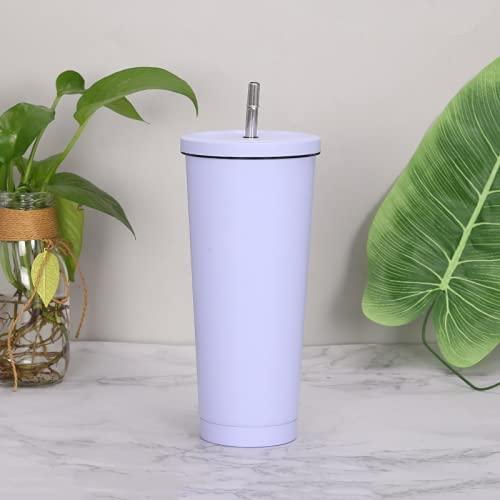 TAIJUN - Botella de agua de acero inoxidable con aislamiento al vacío de doble pared para botella de agua al vacío, cubierta suave, botella de café sin BPA, tapón de paja, funda de transporte de viaje