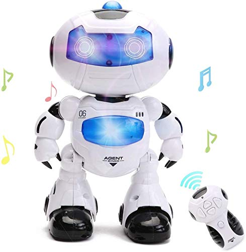 HANMUN RC Robot for Kids - Electronic Learning Toys Toddler Dancing Singing Remote Control Robot Led Eyes with Music Lights …