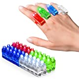 PartySticks Light Up Rings LED Finger Lights - 40pk Flashing Glow Rings, Wearable Party Favors and Party Supplies for Kids and Adults