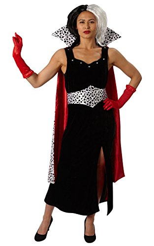 101 Dálmatas - Disfraz de Cruella de Vil Premium para mujer, talla S adulto (Rubie