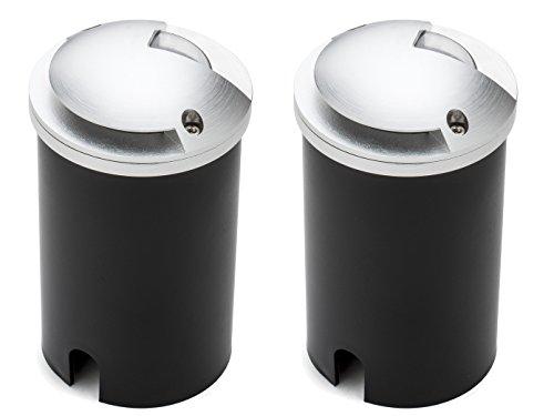 KONSTSMIDE Lot de 2 spots LED encastrables au sol - Diamètre : 8,8 cm - 200 lm - IP65 - Charge maximale : 500 kg - 7967-310