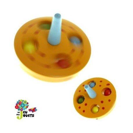 Legler Toupie Billes Jouet en Bois Diamètre 5 cm pour Enfant 3 Ans + - Orange