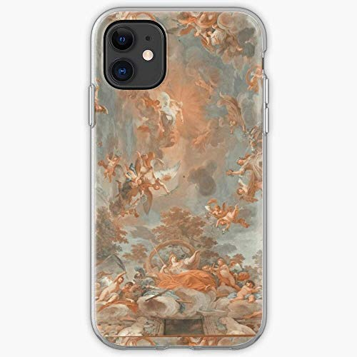 Cherubs Renaissance Angels Painting Cover Compatible for iPhone 12 Pro Max Mini 11 Pro Max SE 2020 X/XS Max XR 8 7 6 6s Plus Case Beautiful 3D Pattern Pure Clear Phone Case