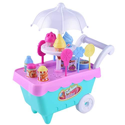 YeahiBaby Carrito de helados, juguete para niños, juguete helado para niños