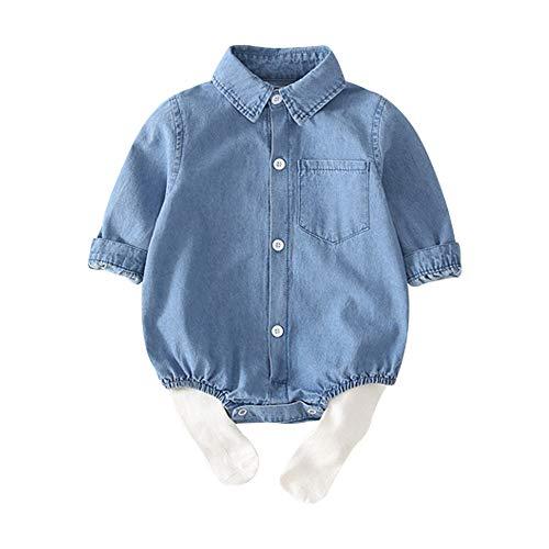 Wahyou® Baby Mädchen Kleidung Cowboy Set Baby Toddler Kinder Langarm Spielanzug Hosen Kleinkind Neugeborenes Kinderkleidung Cute Kleidungsset