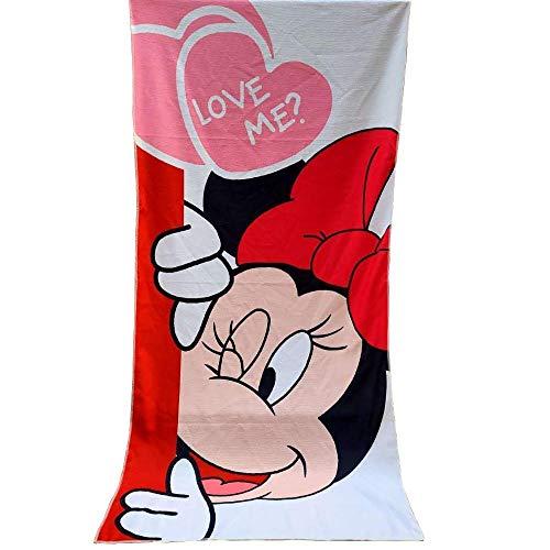 Lindo Mickey Toalla de Playa Toalla de baño Manta Suave Absorbente Transpirable Niños Niños Niñas Toalla de Playa Manta-Minnie_About 70x140cm