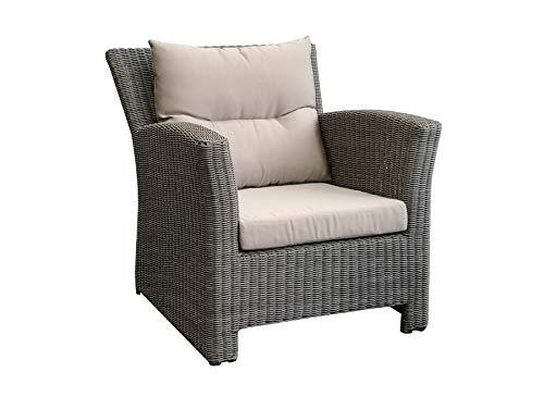 Proloisirs Lot de 2 fauteuils détentes Cancun - Alu/résine Ronde - Brun