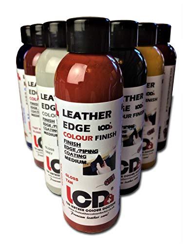 Acabado de pintura para borde de cuero, tinte de cuero, colorante para manualidades, acabado de capa de borde, 100 ml 100 ml Bronceado Rojo