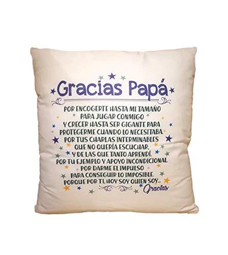 MISORPRESA COJIN con Texto Gracias PAPÁ. Regalo Dia del Padre. Regalo para PAPÁ.
