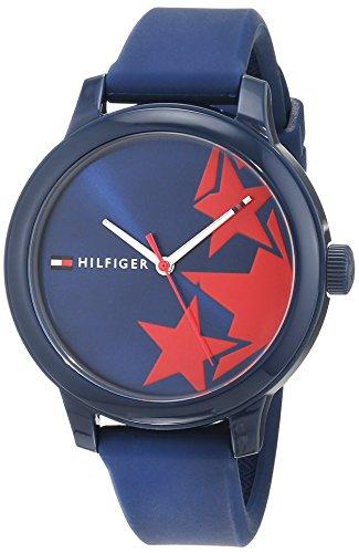 Tommy Hilfiger Damen Datum klassisch Quarz Uhr mit Silikon Armband 1781795