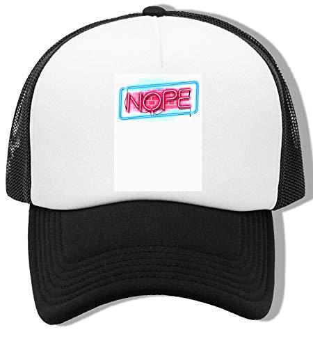 Nope Neon Gorra De Bisbol Unisex Blanca Negra White Black Baseball Cap Unisex