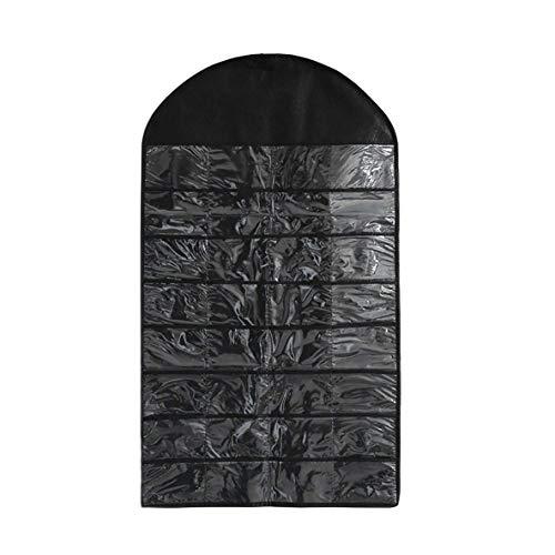 SONGAI Exquis 32 Machines à sous Double Face Bijoux Hanging Organisateur Collier Non-tissé Boucles d'oreilles Bijoux Sac Holder d'affichage