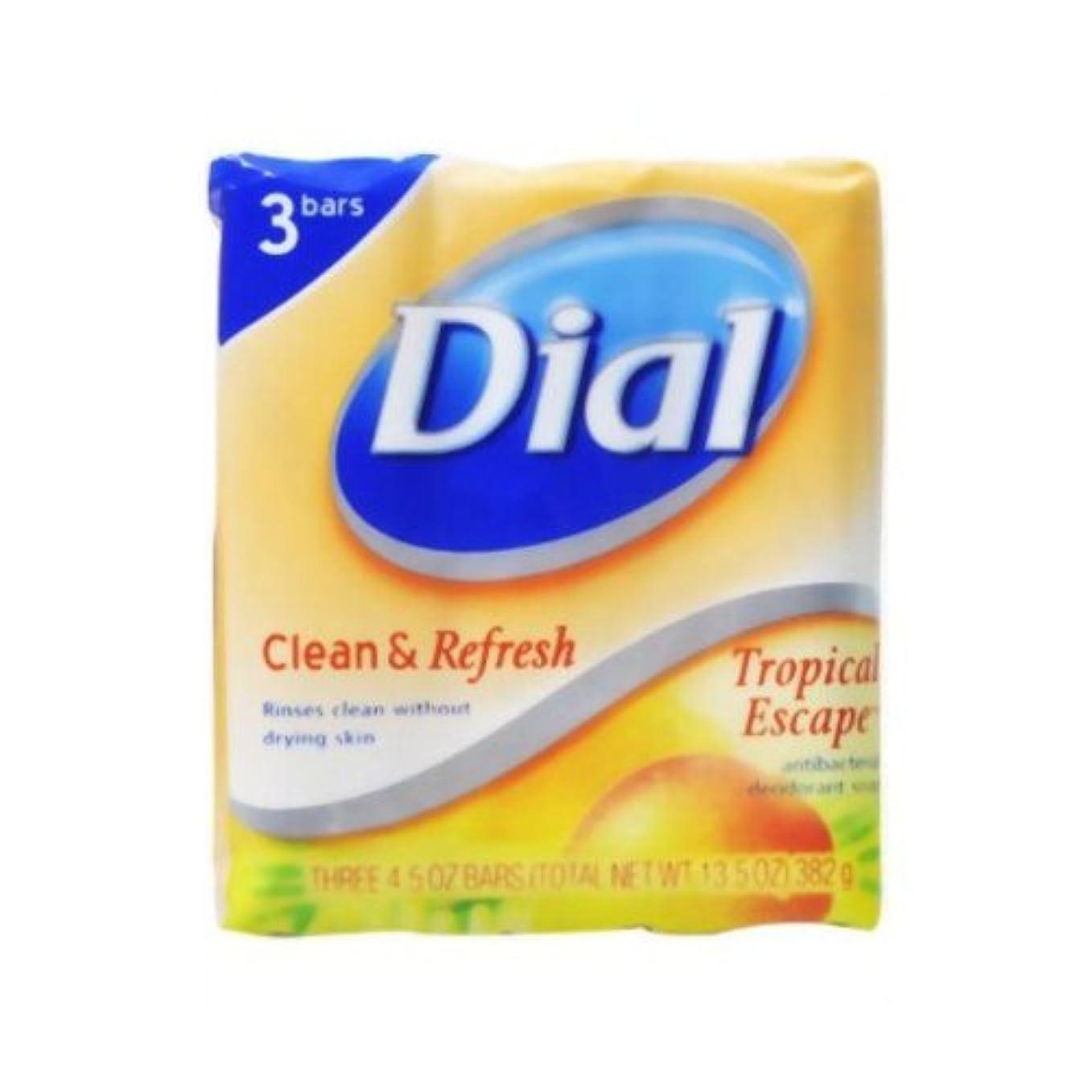 遅い機転仕方【DIAL】ダイアル デオドラント石鹸 トロピカルエスケープ 3個パック