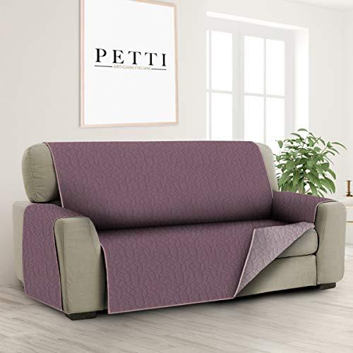 PETTI Artigiani Italiani - Fundas Sofa, Funda Sofa 1 Plaza, Funda de Sofa Reversible, Cubre Sofas, Funda de Sofa y Funda de Sillon, 100% Made in Italy, Cebolla