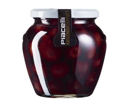 Fruchtig süßes Kirschkompott im 560g Glas von PIACELLI