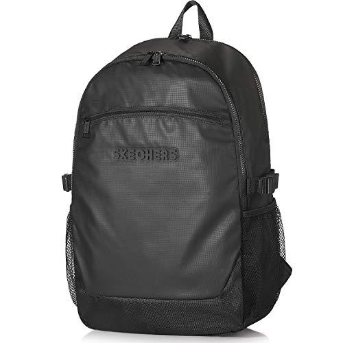 Skechers Herren Rucksack - 23 Liter, Wasserdichter Student Daypack mit Laptopfach, 17 Zoll, Perfekt für die Arbeit Business Uni - Schwarz