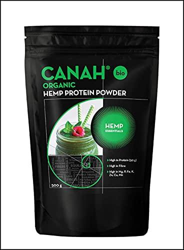 Organic Hemp Protein Powder by Canah® 500 g ✔️ Vegan, High in Protein,...