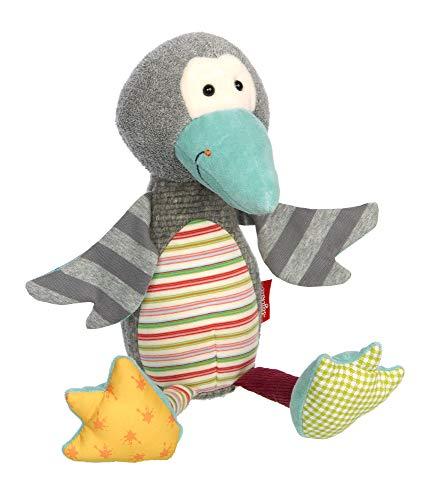 Sigikid 39492 Kuscheltier Patchwork Sweety, Pinguin/Bunt