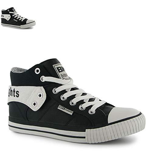 British Knights Roco Fold Chaussures à revers pour hommes Chaussures de sport Baskets montantes - multicolore - noir/blanc,