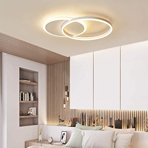 WANG-LIGHT Plafón Moderno de LED lámpara de Techo diseño de Anillo Redonda Regulable con Mando A Distancia, para Sala De Estar Dormitorios,Blanco