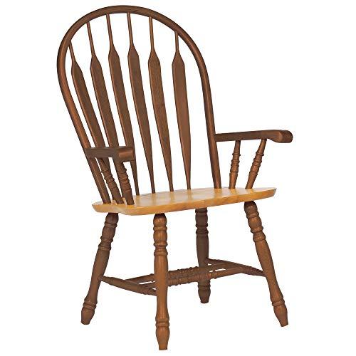 """Sunset Trading Comfort Dining Arm Chair, 41"""", Nutmeg/Light Oak"""