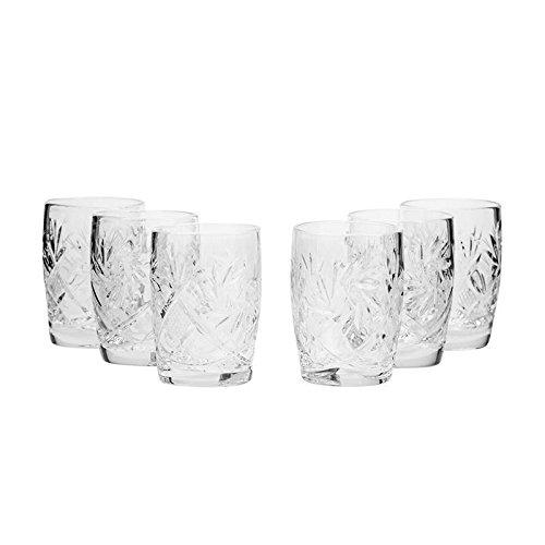 Set di 6 bicchieri Neman realizzati a mano in cristallo russo vintage da 42,5 g