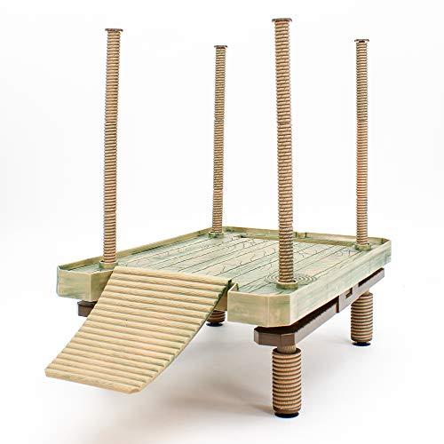 Penn-Plax Reptology Floating Turtle Pier und Basking Platform - dekorativ, funktional und natürlich inspiriert - groß (Modellnummer: REP603)