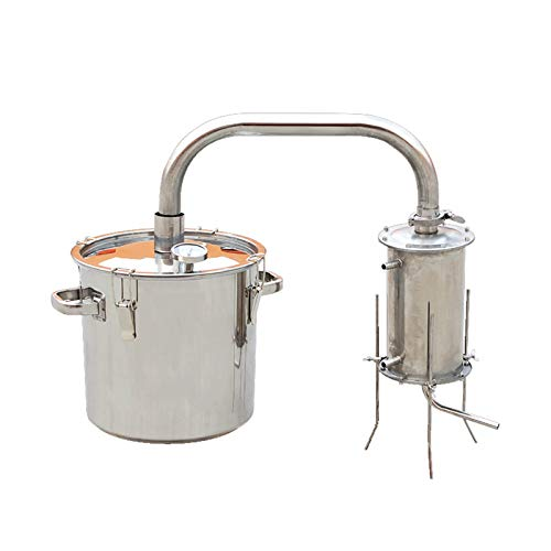 Máquina de rocío Puro de hidrolato, destilador de Alcohol de Hospital Dental de Acero Inoxidable 304 (Size : 36L, 型号 Style : Non-Removable)