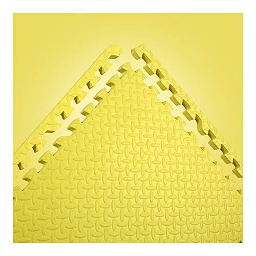AWSAD Dalles en Mousse avec Bordure Non Toxique Tampon Balcon Le Salon Tapis De Bébé, 10 Couleurs 60x60x2cm (Color : Yellow, Size : 1-Tiles)