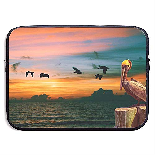 Laptop Sleeve Bag Cute Natural Pelican Bird 15 Inch Briefcase Sleeve Bags Cover Notebook Case